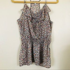 Forever 21 floral sheer tank top. Size M